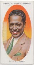 Duke Ellington American Composer Pianist Jazz Bandleader 1930s Trade Ad Card