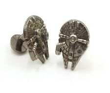 Gift Bag + Star Wars Millennium Falcon Cufflinks Millenium Cuff links Tie clip