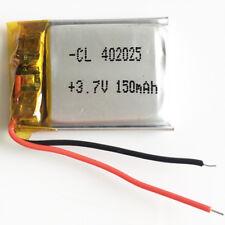 3.7V 150mAh LiPo rechargeable Battery li cells For Mp3 Bluetooth camera 402025