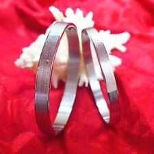 1PC Men Stainless Steel Silver-Tone Religious Cross English Prayer Mens Bracelet