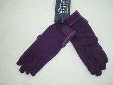 Childrens Horse Riding Gloves - Purple - Medium (approx 9-10 years) by Shires
