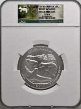 2017 P 5oz SILVER 25C Effigy Mounds NGC SP 69 Early Releases must see!