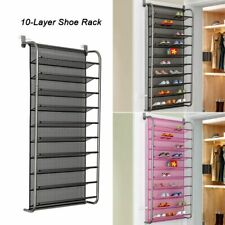 Over Door Hanging Shoe Rack Saving Space Closet Shoes Organizer Wall Mounted New