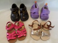 Lot 4 Pair Baby Toddler Girls Sandals Shoes Gymboree Skidders Smart Fit 5-6
