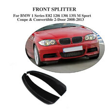 Carbon Fiber Front Bumper Splitter Flaps Fit for BMW E82 120i 130i 135i 2008-13