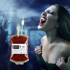 1x Vampire Diaries Props Reusable Drink Blood Bag Pouch Hallowen Cosplay Party