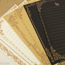 8 Sheets Vintage Design Writing Stationery Antique Paper Pad Note Letter Set