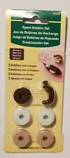 Clover 8108 Spare Tatting Bobbin Set of 5 with Brown Plastic Stopper Lace New
