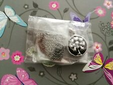 Dangle Tree Heart Pendant Necklace Jewellery New Women Dark Silver / Grey Col