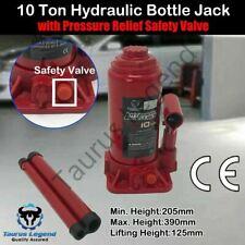 10 Ton High Quality Hydraulic Bottle Jack Car Van Truck Caravan W/ Safety Valve