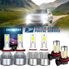 For Suzuki Grand Vitara 2006-13 -9005 H7 Headlight H11 Fog Light LED Combo Bulbs