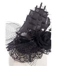 Steampunk Gothic Victorian Pirate Burlesque Ship Design Headdress Fascinator
