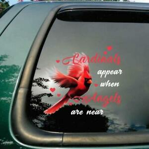 Cardinal Lovers Cardinals Appear When Angels Are Near Car Decal