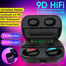New listing 4500mAh Tws bluetooth 5.0 Lcd 9D Headset Wireless Earphones Mini Earbuds @
