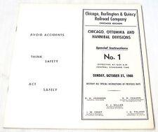 C. B. & Q. RAILROAD--OCTOBER 27, 1968--SPECIAL INSTRUCTIONS--NO. 1