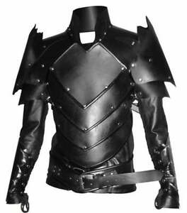 Real leather medieval Fantasy Armour LARP Dress Halloween Costume Leather Armour