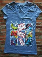 Womens Marvel T-shirt Assorted Characters Featured Size Medium