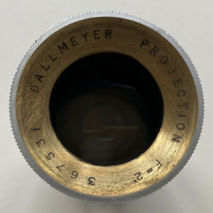 """Very Rare Dallmeyer Projection F=2"""" Lens, 32mm Barrel Diameter, Clean & Clear"""