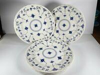 "EUC Churchill Finlandia 10"" Dinner Plates, Lot Of 5, Swirl Rims, Made In England"