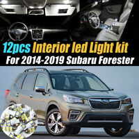 12Pc Super White Car Interior LED Light Bulb Kit for 2014-2019 Subaru Forester