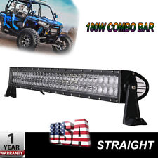 "180W 32"" LED Work Light Bar Flood Spot Combo Offroad FOR  SUV Driving Lamp Atv"