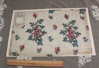 French Antique Hand Blocked Chintz Fabric Sample c1870~Thierry-Mieg &Cie