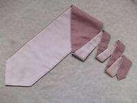 Ascot Cravat MENS Wedding Scrunchie Ruche One Size PALE PINK & ENGLISH ROSE