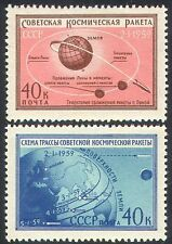 Russia 1959 spazio/Rocket/luna/Scienza/trasporto Set 2v (n33480)