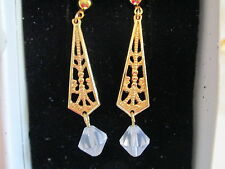 AVON VINTAGE*GENUINE CRYSTAL EARRINGS PIERCED W/ SURGICAL STEEL POSTS**NIB**1992