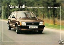 Vauxhall Chevette Astra Cavalier Winter 1980-81 UK Market Sales Brochure