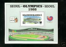 Solomon Islands # 626 S/S MNH F-VF 1988  Seoul Korea Olympics Stadium Athletes