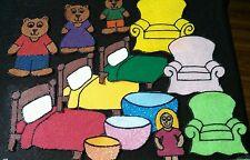 Felt/ Flannel Board Story - GOLDILOCKS & 3 BEARS preschool circle time