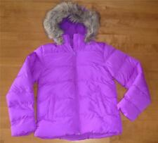 Girls ARIZONA Hooded Puffer Jacket Winter COAT size 14 NWT *Fits SLIM* Neon Pink
