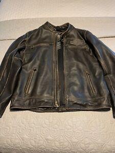Harley Davidson leather jacket large mens