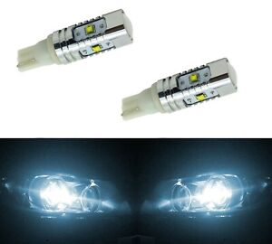 LED Light 40W 194 White 6000K Two Bulbs Front Side Marker Parking Replace Fit