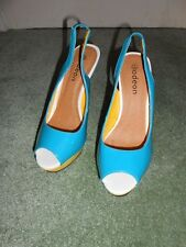 Fab Shoes Peep Toe Multi Coloured High Heels Size 7 UK EUR 40 by Odeon were £45