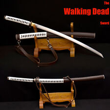 Japanese Walking Dead Zombie Sword Handmade Michonne's Katana Damascus Steel New