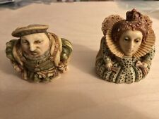 2001 Pot Bellys Harmony Kingdom King Henry Viii & Queen Elizabeth I Trinket Box