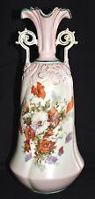 "Vase, RW, Rudolstadt, Germany, Art Nouveau, Victorian porcelain Poppy,14"", c1910"