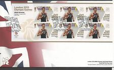 GB 2012 Official FDC Olympics Sheetlet 7th aug Alastair Brownlee 6 stamps