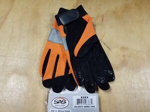 SAS Safety Orange Reflective Safety Gloves - Large - 6363 - NEW
