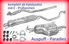 Abgasanlage kompl. ab Kat. Auspuff Opel Zafira A (F75_) 1.6 16V MC: Z16XE + Kit