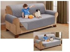 Quilted Couch Furniture Protector Pet Children Silver Color Sofa Size Reversible