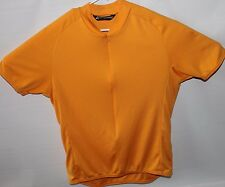 Performance Mens Cycling Jersey Gold Size XL With 4 Pockets 1 Zippered USA Made