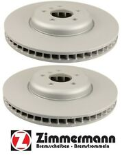 BMW F01/07 Pair Set Of 2 Driver & Pass.Front Vented Disc Brake Rotors Zimmermann