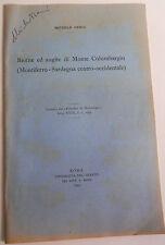SARDEGNA - DERIU BIOTITE ED AUGITE DI MONTE COLUMBARGIU - 1954  6/17