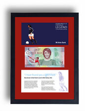 Incorniciato Ltd Edition GEORGE BEST sterline nota £ 5 sterline Manchester United BANCONOTA
