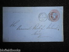 More details for victorian 1862 franked letter from carmarthen to newry - 1d - postal history