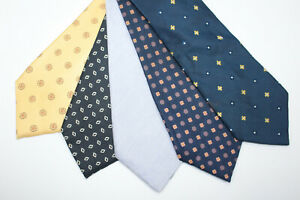 LOT OF 5 BORRELLI silk ties MADE IN ITALY. F4345