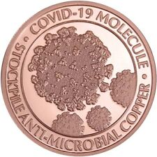 One (1) AVDP Oz .999 Pure Copper Round - Engraved Virus Molecule
